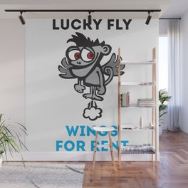 Lucky Fly  Wings for Rent Wall Mural