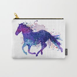 Running Horse Watercolor Silhouette Carry-All Pouch