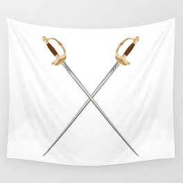Crossed Infantry Swords Wall Tapestry