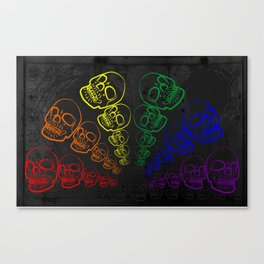 skull spectrum Canvas Print