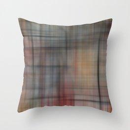Abstract Multicolored Tartan Throw Pillow
