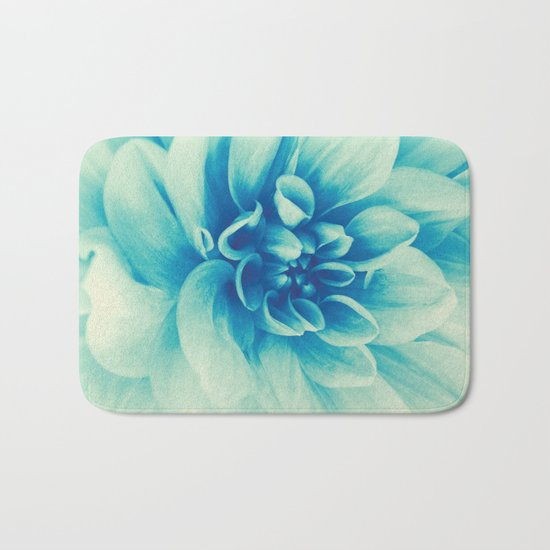 Blue Beauty (Spring Blooming Dahlia) Bath Mat