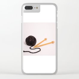 Knitting Bag Two Clear iPhone Case