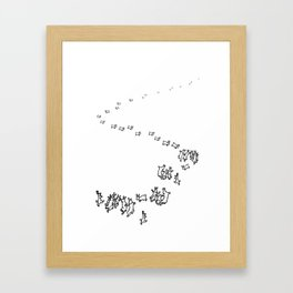 And So We Go Dancing Framed Art Print
