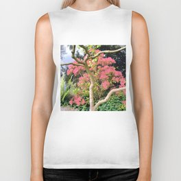 Treetrunk and flowers Biker Tank
