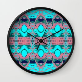 Lessons In Clay - red Wall Clock