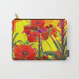 MODERN TROPICAL FLOWERS GARDEN DESIGN IN YELLOW-ORANGE COLORS Carry-All Pouch