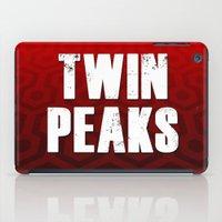 twin peaks iPad Cases featuring Twin Peaks by InvaderDig