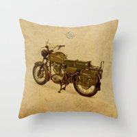 ducati Throw Pillows featuring Ducati vintage background by Larsson Stevensem
