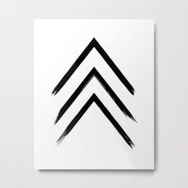 Black Graphic Arrows Metal Print
