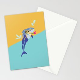 Aspiring Dolphin/Shark Stationery Cards