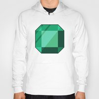 emerald Hoodies featuring Emerald by creativeesc