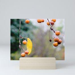 Fall is over wabi-sabi Mini Art Print