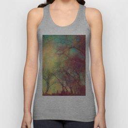 Tree Silhouette, Autumn Sunset Unisex Tank Top