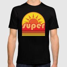 super duper LARGE Mens Fitted Tee Black