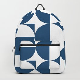 Mid century white and blue Backpack