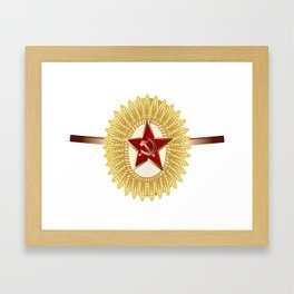 Soviet Officer Cap Badge Framed Art Print