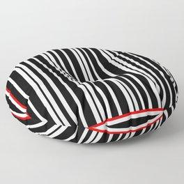 Black and White Stripes Floor Pillow
