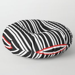 Black and White Stripes Floor Pillow
