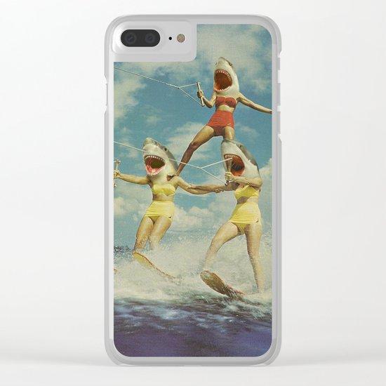 On Evil Beach Clear iPhone Case