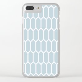 Chilly Blue Frost Clear iPhone Case