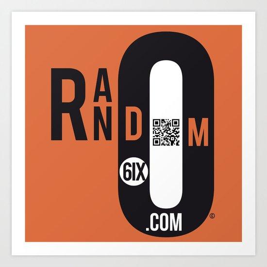 QRandom6IX Art Print