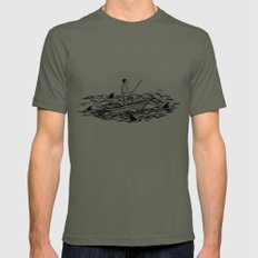 Troubled Waters Mens Fitted Tee X-LARGE Lieutenant