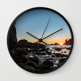 Sunburst at the Beach Wall Clock