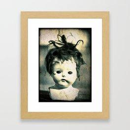Doll Head Framed Art Print