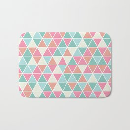 Triangulation (pink and green) Bath Mat