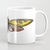 insect Mugs featuring Insect by Freja Friborg