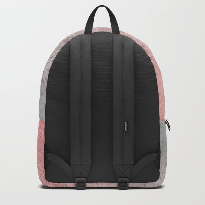 Oriental ornament pattern Rose Quartz Backpack