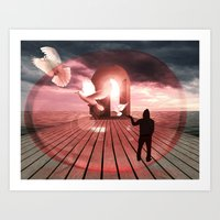 surrealism Art Prints featuring surrealism  by mark ashkenazi