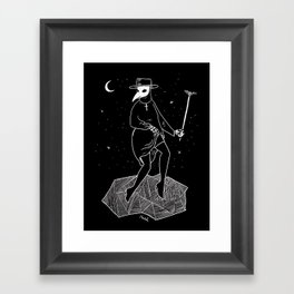 Plague Doctor Framed Art Print