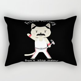 Don't Stop Meow! Cute Freddie Cat Rectangular Pillow