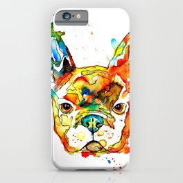 Colorful french bulldog iPhone Case
