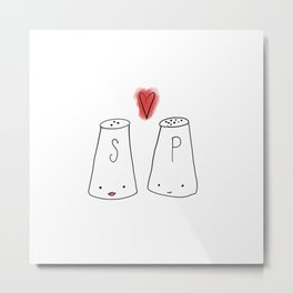 Salt & Pepper Metal Print