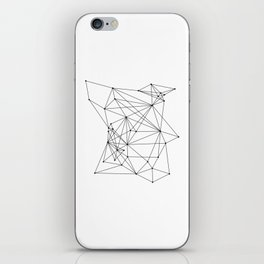 White Geometric Dots and Lines iPhone Skin