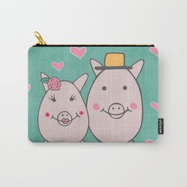 Hogs and Kisses Carry-All Pouch