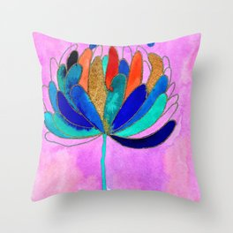 Release - Original Watercolour and Ink Painting from the Garden Throw Pillow