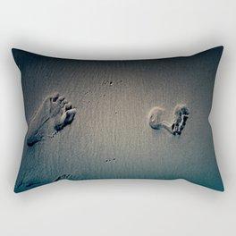 Feet on Sand-Dark Rectangular Pillow