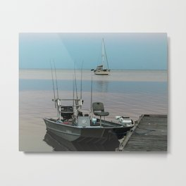The End of a Fishing Day on Cedar Key Metal Print