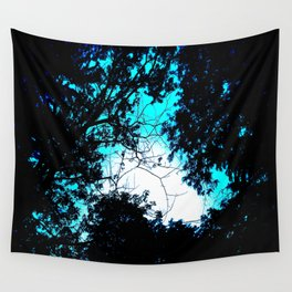 Color Bleed Leaves Wall Tapestry