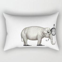 Elefante con gafas, espera. Rectangular Pillow