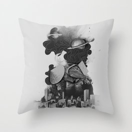 The Night Gatherer Throw Pillow