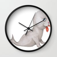 seal Wall Clocks featuring Seal by Joey Wall