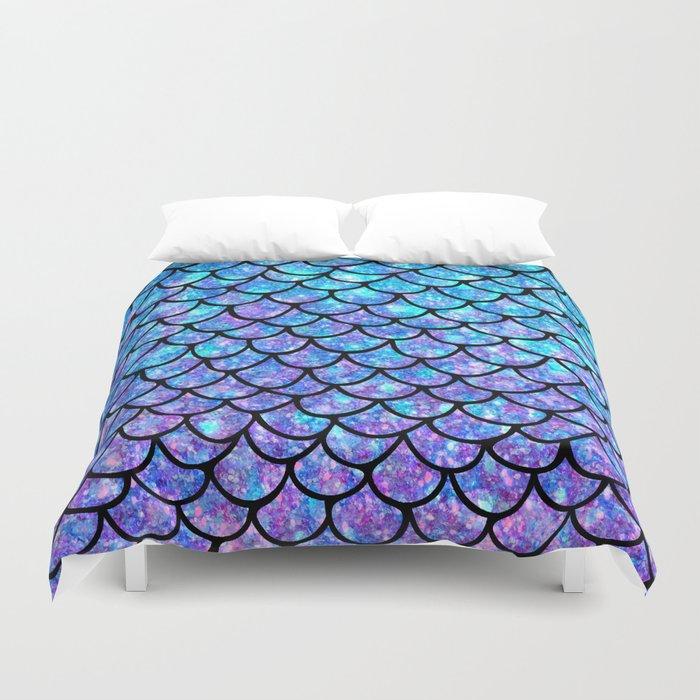 Purples & Blues Mermaid scales Duvet Cover
