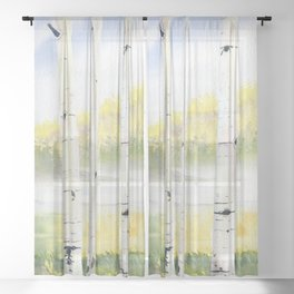 Behind The Birch Trees Sheer Curtain