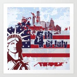 4th Of July Art Print