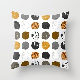 Rolling Cat Pattern Throw Pillow